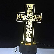 Jesucristo cruz USB 3D LED luz nocturna g &