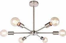JHLBYL Candelabro moderno Sputnik de níquel y