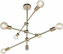 JHLBYL Sputnik Candelabro de Metal Moderno 6 Luces