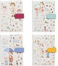 JIACUO A5 Cuaderno de Dibujos Animados Lindo