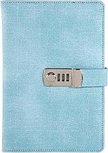 JIACUO Cuaderno A5 con Bloqueo de contraseña,
