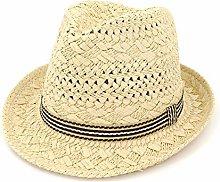 JIANGJINLAN 2019 Sombrero de Paja Hecho a Mano