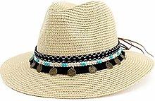 JIANGJINLAN Moda Mujeres Sombrero de Paja Sombrero
