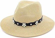JIANGJINLAN Sombrero de sombrilla Sombrero de Paja