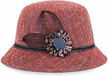 JIANGJINLAN Sombrero para sombrilla de lino