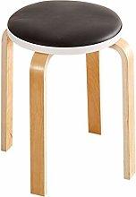 JIAXU Reposapiés tapizado retro silla de madera 4