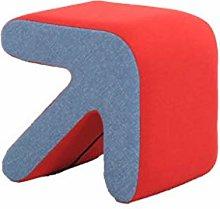 JIAXU Taburete de sofá creativo de madera maciza,