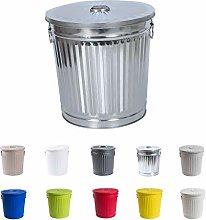 Jinfa   Cubo de basura de metal galvanizado con