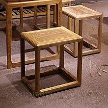 JINKEBIN Taburete personalizado de madera maciza
