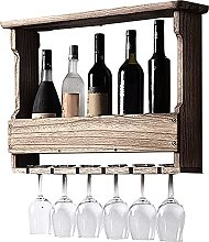 JiuRan Armario de vino de madera maciza, estante