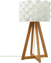 JJA - Lámpara sobremesa de papel blanco Moki