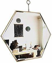 JJZI-L Metal Mirror, Polygon Living Room Office