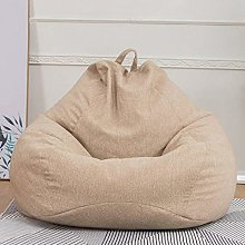 JSL Puf gigante sofá de tela de lino de algodón
