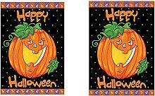 JTBDWOSK Calabaza Bandera de jardín de Halloween,