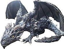 JTBDWOSK Escultura de dragón en Cuclillas Grande
