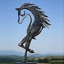 JTBDWOSK Kiss Horse Sculpture Estatua Moderna,