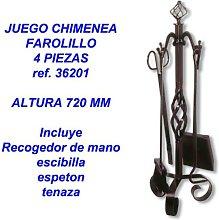 juego chimenea farolillo 4 piezas 36201 -