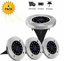 juego con 4 luces solares para exteriores - 12 LED