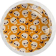 Juego de 12 pomos de cristal para armario, diseño