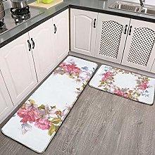 Juego de 2 alfombras de cocina lavables, juego de