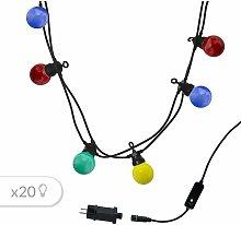 Juego de 2 luces de exterior conectables 10 globos