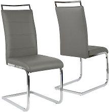Juego de 2 sillas de comedor sillas cantilever