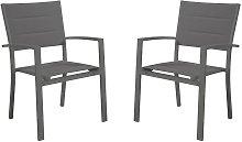Juego de 2 sillones de jardín apilables OLERON de