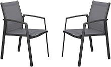 Juego de 2 sillones de jardín apilables PALAOS de