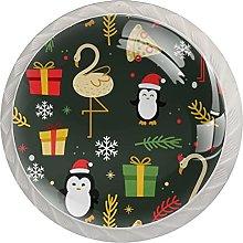 Juego de 4 pomos para cajones de Navidad con