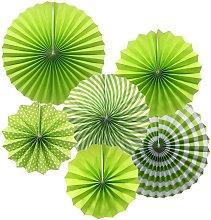 Juego de abanico de papel para colgar, diseño