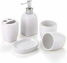 Juego de accesorios de baño de cerámica blanca