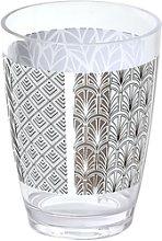 Juego de baño Gatsby estampado: vaso, dispensador