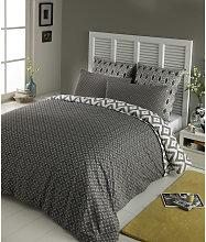 Juego de cama 240 × 260cm de algodón gris