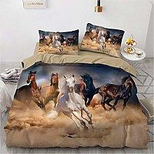 Juego de cama 3D con diseño de caballo en 3D,