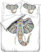 Juego de cama Bohemio Elefante Diseño étnico