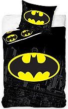 Juego de cama de Batman, 100% algodón, funda