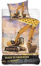 Juego de cama de excavadora NL195026, 135 x 200 cm