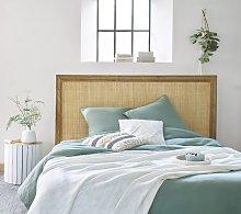 Juego de cama de lino lavado verde jade 220x240