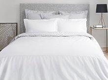 Juego de cama de percal de algodón con bordado