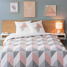 Juego de cama gráfico multicolor 220x240