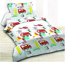 Juego de cama infantil 100% algodón BOMBERO - 140