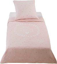 Juego de cama infantil de algodón estampado rosa