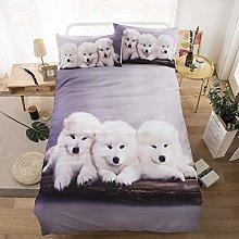 Juego de cama infantil de animales con funda de