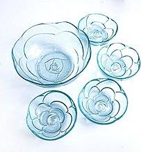 Juego de cuencos de cristal creativos de estilo
