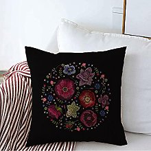 Juego de funda de almohada cuadrada decorativa