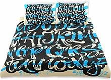 Juego de Funda de edredón, Cartel del Alfabeto,