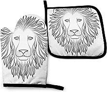 Juego de Manoplas y Soportes para ollas de león