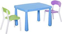 Juego de mesa y dos sillas infantil multicolor