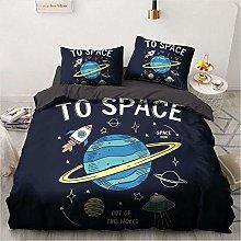 Juego de ropa de cama con diseño de astronautas