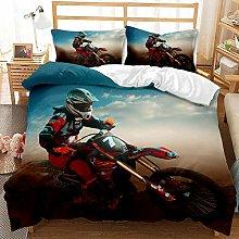 Juego de ropa de cama de motocicleta vintage para